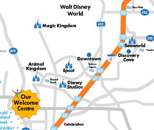 Map Of Kissimmee Florida.Our Kissimmee Welcome Centre Ocean Florida